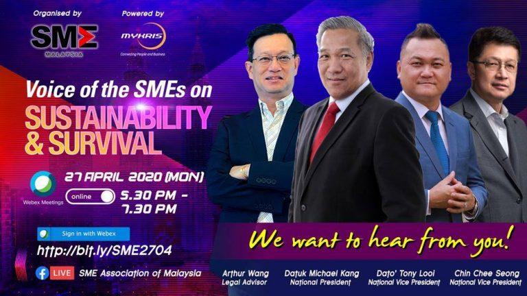 [27 April 2020] Voice of the SMEs on Sustainability & Survival 中小企业的声音:持续与生存